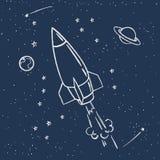 Милый космический полет бесплатная иллюстрация