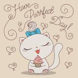 Милый кот с сердцем Стоковая Фотография
