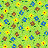 Милый красочный вектор цветет безшовная картина Стоковое Фото