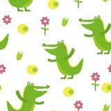 Милый крокодил в стиле шаржа Картина Стоковое Изображение RF