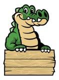 Милый крокодил шаржа иллюстрация штока