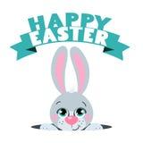 Милый кролик пасхи шаржей Соответствующий для дизайна пасхи Стоковое фото RF