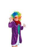 Милый клоун мальчика Стоковое Изображение RF