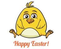 Милый маленький желтый цыпленок пасхи Стоковые Изображения
