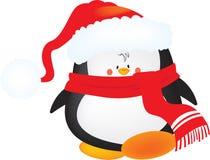 Милый маленький пингвин рождества Стоковая Фотография RF