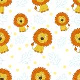 Милый маленький стиль шаржа льва покрасьте вектор возможных вариантов картины различный Стоковые Изображения RF