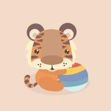 милый маленький тигр Стоковые Изображения