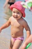 Милый малыш в море Стоковая Фотография