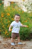 Милый мальчик маленького ребенка в природе Стоковые Изображения RF