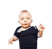 Милый мальчик - 7 месяцев старых стоковые фотографии rf