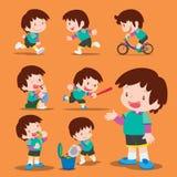 Милый мальчик много действий Стоковое фото RF