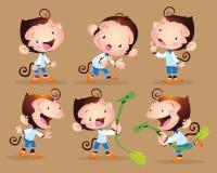 Милый мальчик обезьяны Стоковые Изображения