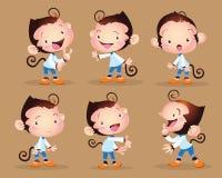 Милый мальчик обезьяны Стоковые Изображения RF