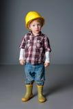 Милый мальчик одевает и играет Стоковые Изображения RF