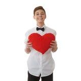 Милый мальчик подростка над предпосылкой изолированной белизной Стоковое Изображение RF