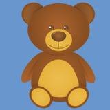 Милый медведь изолированный на голубой предпосылке Стоковые Изображения