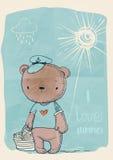 Милый медведь doodle Стоковое фото RF