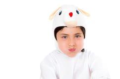 Милый молодой мальчик одел в делать костюма зайчика Стоковое Изображение RF