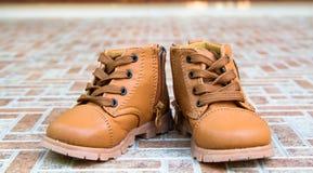 Милый младенец boots ботинки Стоковое Изображение RF