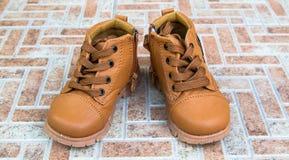 Милый младенец boots ботинки Стоковая Фотография RF