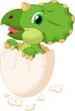 Милый насиживать динозавра бесплатная иллюстрация