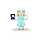Милый доктор шаржа Стоковое фото RF