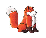 Милый персонаж из мультфильма лисы иллюстрация вектора