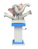 Милый персонаж из мультфильма слона с этапом речи иллюстрация вектора