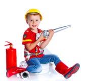 Милый пожарный малыша Стоковая Фотография RF
