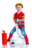 Милый пожарный малыша Стоковая Фотография