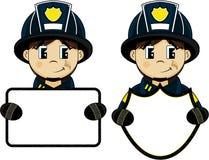 Милый пожарный шаржа - пожарный бесплатная иллюстрация