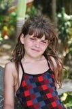 Милый портрет девушки смотря камеру Стоковое Изображение RF