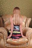 Милый портрет девушки с длинными волосами Стоковая Фотография RF