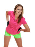 Милый портрет фитнеса женщины тренировка потехи Стоковая Фотография RF