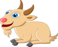 Милый представлять шаржа козы Стоковая Фотография