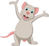 Милый представлять шаржа мыши Стоковое Изображение