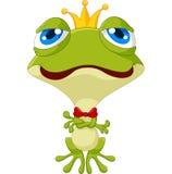 Милый представлять лягушки короля Стоковое фото RF