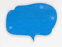 Милый пузырь речи изолированный на белой предпосылке Стоковые Изображения