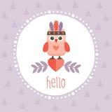 Милый пурпур owlet битника Стоковая Фотография