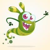 Милый развевать призрака зеленого цвета шаржа Характер хеллоуина вектора Стоковое Изображение RF