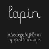 Милый 8-разрядный шрифт сценария стиля Стоковое Фото