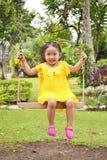 Милый ребенок на качании Стоковая Фотография RF