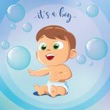 Милый ребёнок играя пузыри Стоковые Изображения
