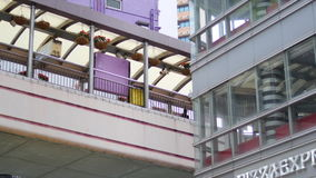 Милый розовый footbridge в Гонконге акции видеоматериалы