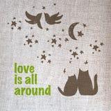 Милый романтичный плакат Стоковые Изображения RF