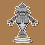 Милый стальной дизайн вектора робота стоковое изображение rf