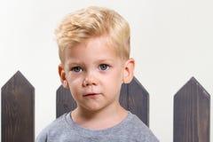 Милый счастливый мальчик стоковое фото rf