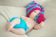 Милый счастливый младенец стоковая фотография rf