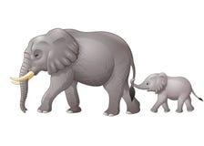 Милый слон матери и младенца бесплатная иллюстрация