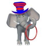 Милый слон цирка шаржа 3d Стоковые Фото